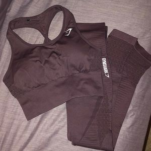 Matching seamless Gymshark set